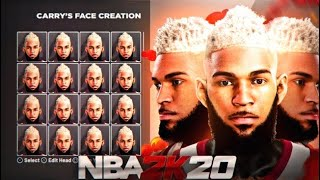 FINALLY REVEALING MY FACE CREATION ON NBA2K20! LOOK  LIKE A DEMI GOD TODAY!