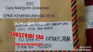 Cara mengirim dokumen CPNS kemenkumham 2018 SLTA / SMA