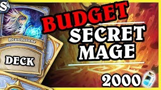 BUDGET SECRET MAGE 2000 PYŁU - Hearthstone Deck Std (K&C)