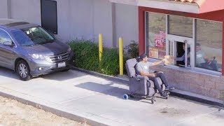 Going Through a Fast Food Drive-Thru On a Motorized Recliner!