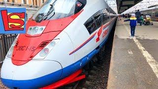 Самый длинный Скоростной поезд в мире Сапсан поездка в Санкт Петербург на поезде