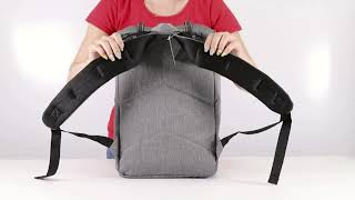 Рюкзак BRAUBERG молодежный с отделением для ноутбука, «Кантри», серый меланж, 41×28×14 см, 227082
