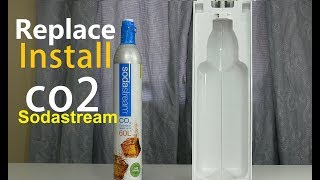 How To Replace Install Sodastream Co2 Cylinder