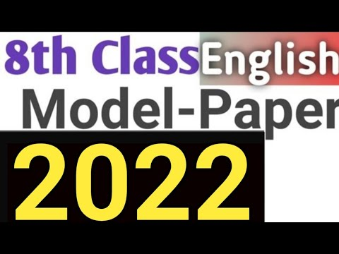 8th English Board Paper 2018 With Answer
