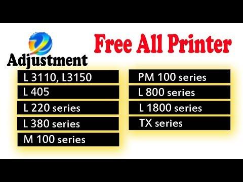 Epson L3110, L220, L380, L405 Free Reset Download - смотреть