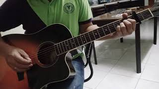 Easiest way to play the Flame by cheap trick capo on the 2nd fret and play chords open.