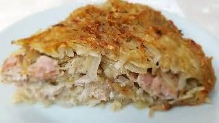 Картофельно-мясная запеканка. Рецепт.                                                                                               Ингредиенты: