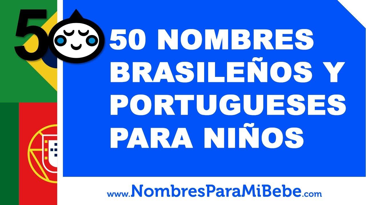 50 nombres brasileños y portugueses para niños - www.nombresparamibebe.com