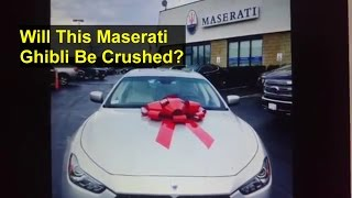Will this newish Maserati Ghibli go to the crusher? Tune in next week. - VOTD