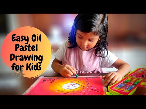 Easy Oil Pastel Drawing for Kids | Oil Pastel Art for Kids | Part 5