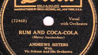 Picture of a band or musician: Rum And Coca-Cola The Andrews Sisters, Vic Schoen & His Orchestra