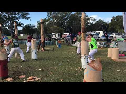 300mm Qld Standing Block Elimination Championship Heat 5 J Argent vs J Head Redcliffe 2019