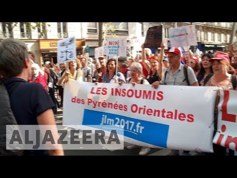 Thousands rally in Paris against Macron's labour reforms