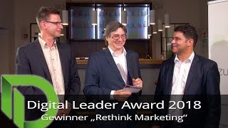 "Digital Leader Award 2018 - Sieger in der Kategorie ""Rethink Marketing"""
