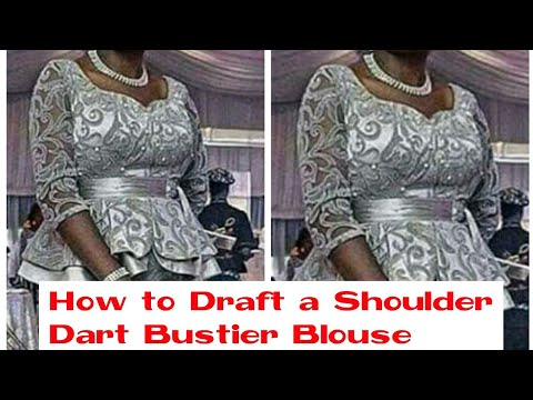 How to Draft a Shoulder Dart  Bustier.