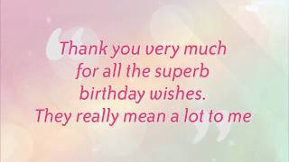 Say Thank You Replies to Birthday Wishes | Best #Replies