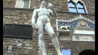 Смотреть онлайн Прогулка русских туристов по городу Флоренция