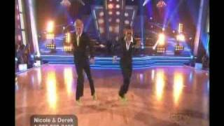 Nicole and Derek dance Freestyle - DWTS Season 10 Week 10(2)
