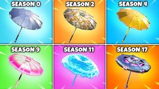 Evolution of ALL 27 Umbrella Gliders in Fortnite! (Season 1 to Season 17)