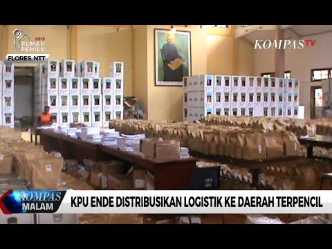 KPU Ende Distribusikan Logistik ke Daerah Terpencil