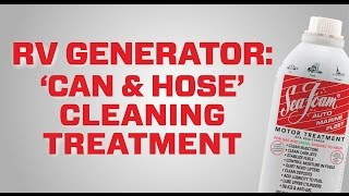 The best way to clean a RV Generator engine (shows Onan in demo)