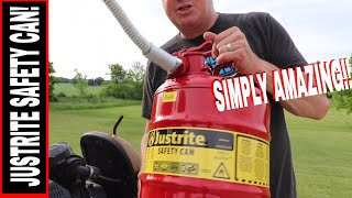 JUSTRITE GALVANIZED STEEL GAS CAN REVIEW 7250130 |  IS THIS THE BEST ONE?