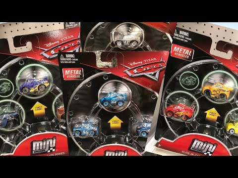 Disney Cars 3 Toy Hunt NEW CARS MINI RACERS WAVE 4 3-Pack Glow In The Dark Silver Metallic Series