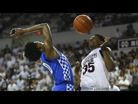 Mississippi State's Aric Holman Throws Ball In Face Of De'Aaron Fox | CampusInsiders