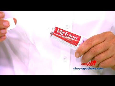 Die richtige Anwendung von Mirfulan Wund- und Heilsalbe