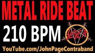 Metal Ride Beat 210 bpm Slayer Style Drums Only Track Loop