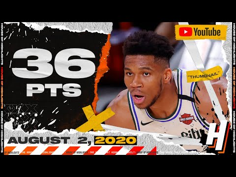 Giannis Antetokounmpo 36 Pts 18 Reb 8 Ast Full Highlights | Bucks vs Rockets | August 2, 2020