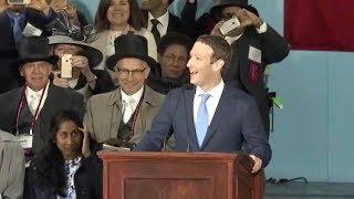 Mark Zuckerberg commencement address at Harvard University. May 25, 2017.