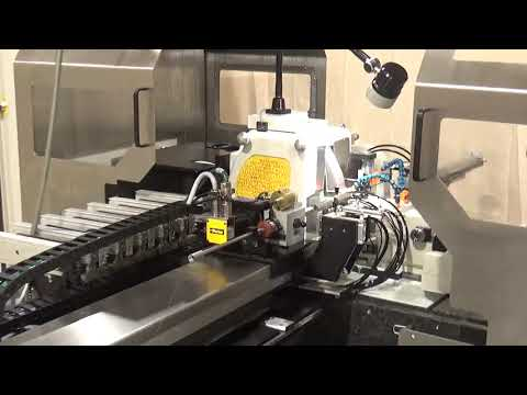 Royal Master Generation X guidewire grinding machine w/ cut to length loader and exit side unloader