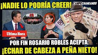 YA NO PUDO MÁS! ROSARIO ROBLES ACCEDE A PONERLE EL DEDO A ENRIQUE PEÑA NIETO ¡ESTO LO CAMBIA TODO!