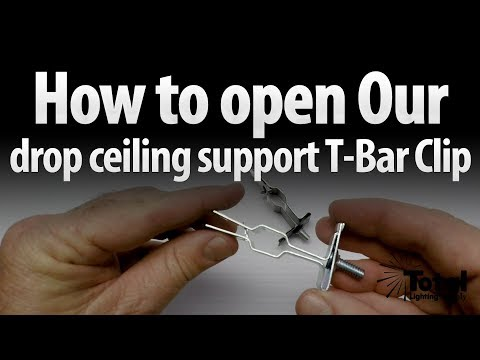 How to Open our drop ceiling Track Lighting support T-Bar Clip