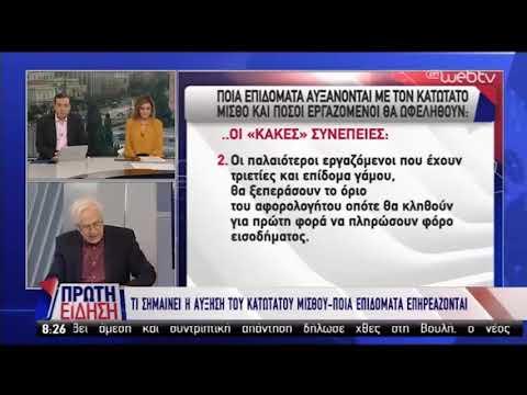 Ο Γιώργος Χριστόπουλος στην ΕΡΤ για τον κατώτατο μισθό (29-1-2019)