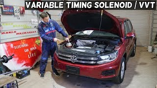 VW TIGUAN VVT SOLENOID VARIABLE TIMING SOLENOID ACTUATOR LOCATION REPLACEMENT EXPLAINED