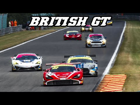 BRITISH GT race at Spa 2019 - 720s GT3, Continental, Vantage, AMG GT3, Mustang GT4, 570s,