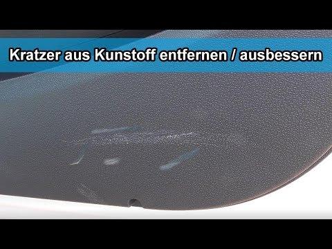 Kratzer im Auto Cockpit / aus Innenraum Kunststoff entfernen / ausbessern – Tutorial / Anleitung