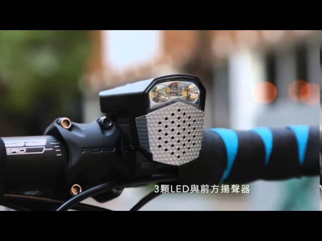Видео Фара-Гудок Topeak SoundLite USB Wireless черно-белый