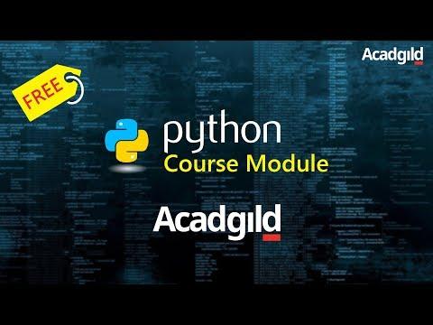 Python Course Module Acadgild | Python Online Training Demo - Acadgild | Python Basics Tutorial