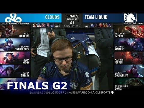 TL vs C9 - Game 2 | Grand Finals S9 LCS Summer 2019 PlayOffs | Team Liquid vs Cloud 9 G2
