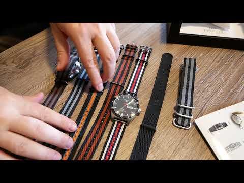 Tissot T-Sport PRS 516 Armbanduhr | Unboxing | Nato Nylon Straps | Uhr Clock Watch | Seiko-Dad ;-)