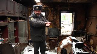 Мичуринский полицейский спас из пожара троих детей и пенсионерку
