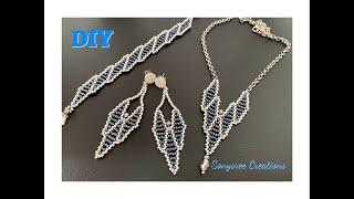 Angel Jewelry Set    DIY Beaded Earrings,Necklace & Bracelet Set    How To Make Beaded Earrings