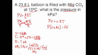 IDEAL GAS LAW PRACTICE PROBLEMS - How To Solve Ideal Gas Law Problems In Chemistry