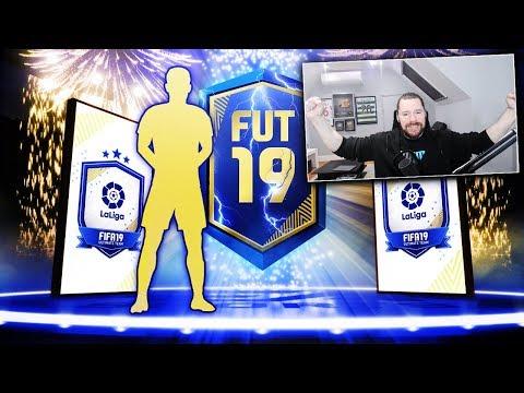 SO MANY BLUES! - INSANE LA LIGA TOTS UPGRADE PACKS! - FIFA 19 Ultimate Team