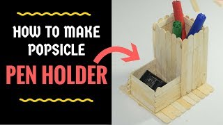 How To Make Pen Stand At Home With Icecream Sticks Free Online