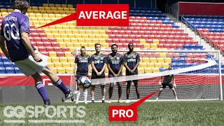 Can an Average Guy Score a Free Kick Against a Pro Soccer Goalie?   Above Average Joe   GQ