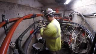 Underground power line splice. Lead to JCN